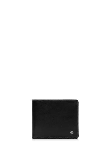 Cengiz Pakel 27505 Küçük Boy Deri Renk Erkek Cüzdan Siyah